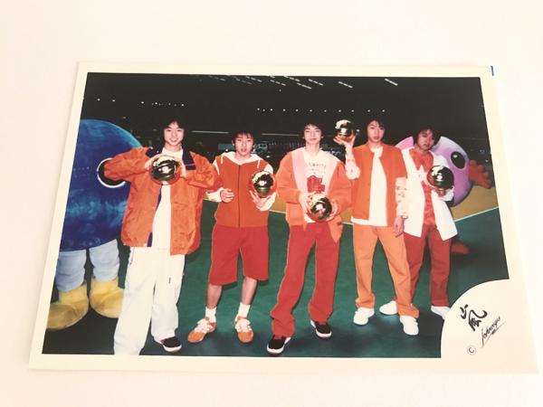 6 嵐 公式写真 第31回春の高校バレー 大野智 櫻井翔 相葉雅紀 二宮和也 松本潤 嵐ロゴ
