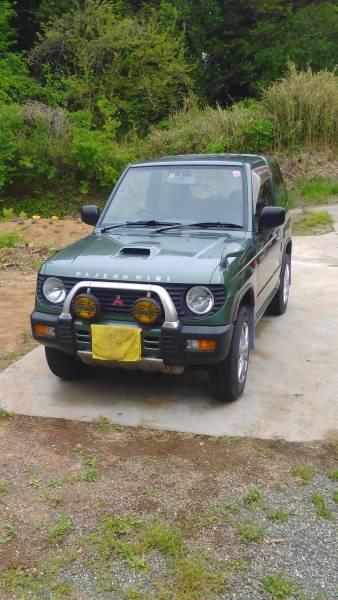 (山梨県)格安 平成8年式 三菱パジェロミニターボ 4WD 車検有り 平成29年12月迄 人気のグリーン 機関等問題なし