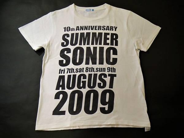 訳あり◆サマーソニック 2009◆10周年記念 Tシャツ:M