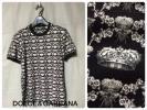【新品】ドルチェ&ガッバーナ 欧州の象徴クラウンと幸運を運ぶミツバチ クラウン&ビーモチーフの半袖Tシャツ タイトな美麗スタイル!