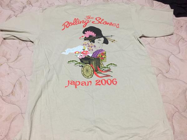 ローリングストーンズ 2006年 JAPANツアー 和柄 Tシャツ ライブグッズの画像
