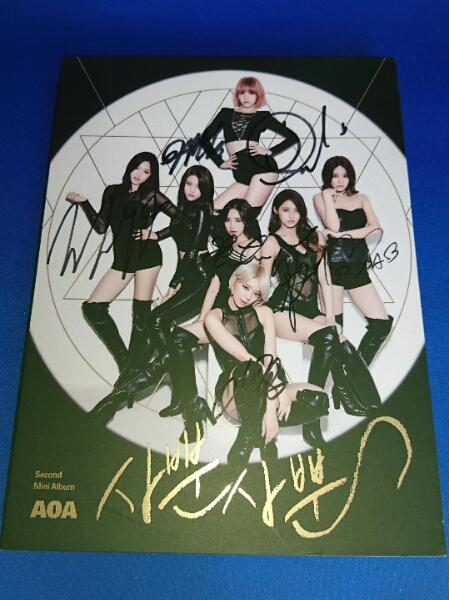 AOA 直筆サインCD / second Mini Album (非売品)