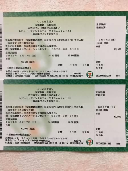 宝塚歌劇花組公演 「邪馬台国の風」 レビュー・ファンタスティーク「Sante!!」 6月17日(土)15:00公演