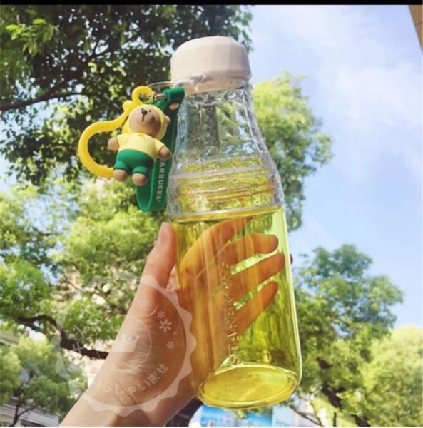 スターバックス スタバ 海外限定ボトルパイナップルクマちゃん付き 黄色ベアリスタ