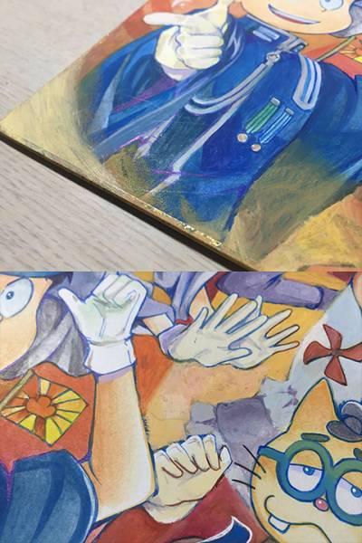 同人手描きイラスト/アクリル画/色紙・おそ松さん・おそ松、カラ松、チョロ松、一松、十四松、トド松・千本桜コス_画像3