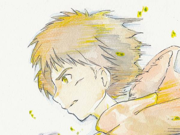 同人手描きイラスト/アクリル画/スタジオジブリ・もののけ姫・アシタカ・モロの子