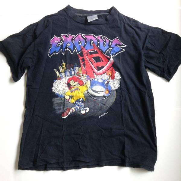送料込! エクソダス EXODUS 80S ヴィンテージ ロック Tシャツ! スラッシュ メタル デスメタル 80S 90S