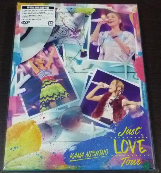西野カナ Just LOVE Tour DVD 初回生産限定盤 美品 ライブグッズの画像