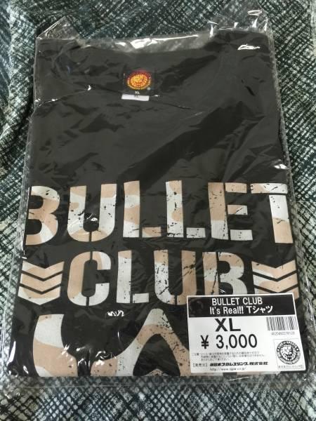【新品未開封】新日本プロレス/WWE Bullet Club Tシャツ It's Real! 黒 サイズXL グッズの画像