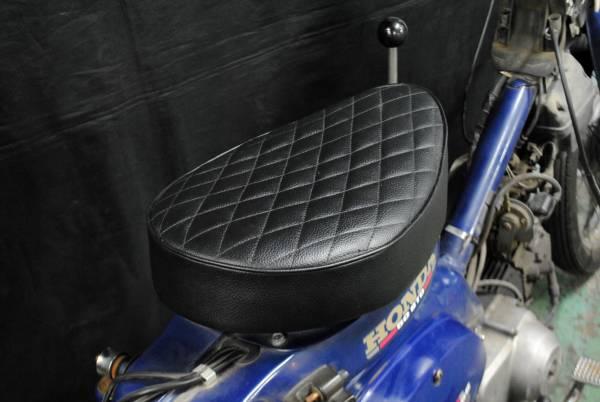 スーパーカブ用シート カブ用シート カスタムシート ダイヤステッチシート コブラシート 黒 ボルトオンで取付簡単です!_画像3