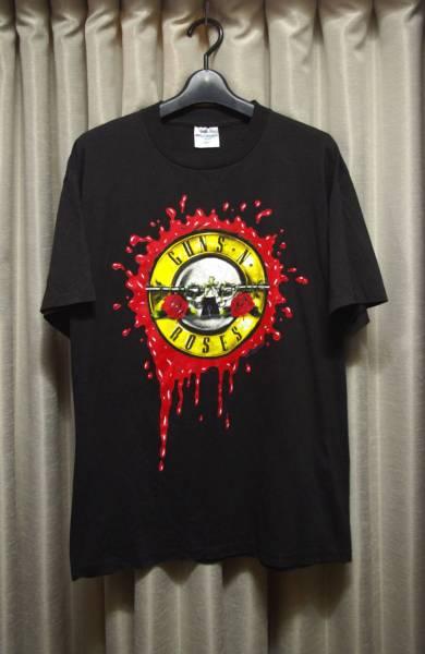 【USED】 GUNS N' ROSES ガンズアンドローゼス Tシャツ BROCKUM 90年代 L バンドT ヴィンテージ