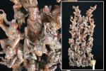 【縁】収集家所蔵品 中国 唐木 唐物 十八羅漢 細密透かし彫り 置物 時代の品n863