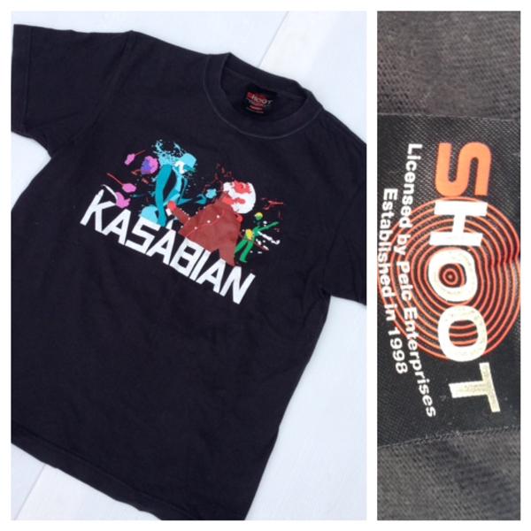 SHOOT ) KASABIAN カサビアン EMPIRE TOUR 2007 バンド ロック ツアー 半袖 Tシャツ ブラック 黒 KIDS