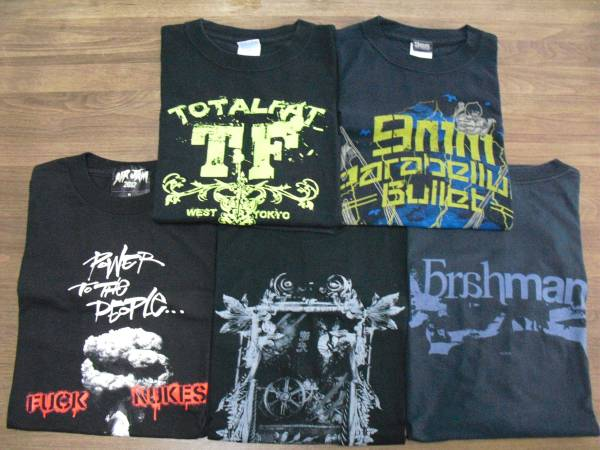 ロック Tシャツ 5枚セット まとめ売り (AIRJAM 9mm Parabellum Bullet BRAHMAN TOTALFAT)