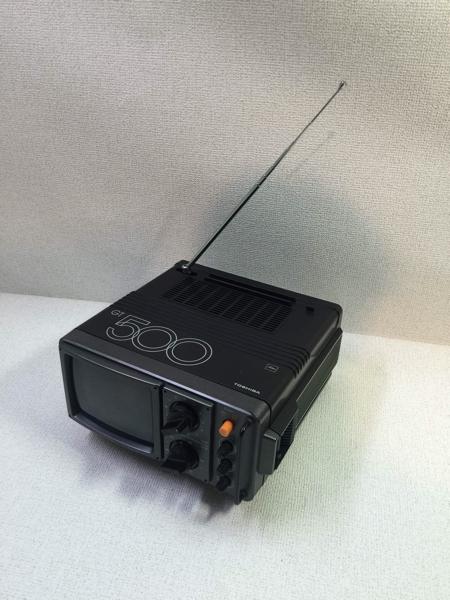 TOSHIBA トランジスタテレビ TV レトロ GT-500 アンティーク コレクション アンテナ 格安スタートA_画像1