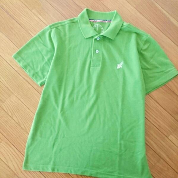 ポロシャツLピスタチオ色ベルメゾングリーン定番大人カジュアル差し色