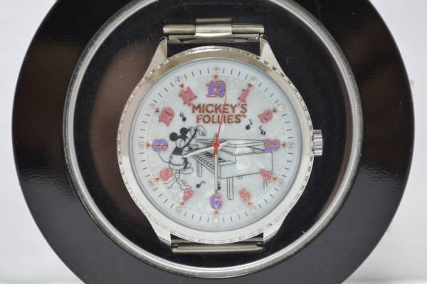 """ディズニー 腕時計 ミッキー プレミアム ラインストーン付きメタルリストウォッチvol.2 """"MICKEY'S FOLLIES""""_画像1"""