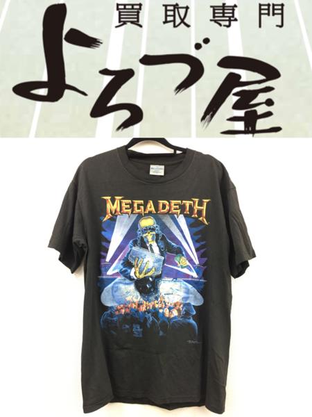 MEGADETH メガデス Tシャツ バンドT 黒 Lサイズ ビンテージ
