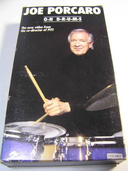 VHSビデオ/ジョー・ポーカロ/Joe Porcaro On Drums/ドラム 教則/Tom Ranier/Kenny Wild/輸入版_画像1
