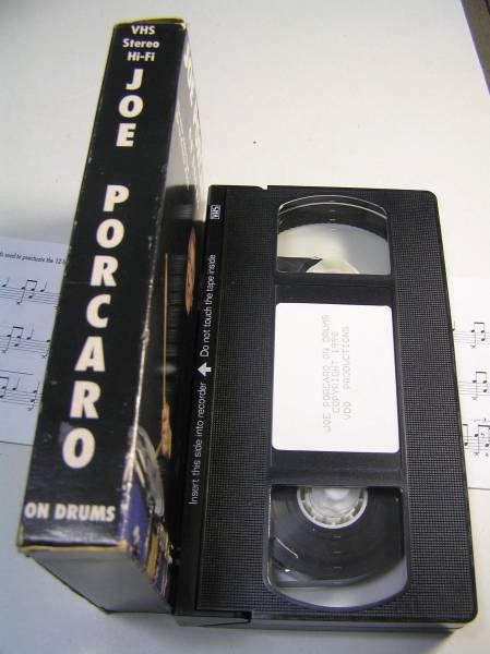 VHSビデオ/ジョー・ポーカロ/Joe Porcaro On Drums/ドラム 教則/Tom Ranier/Kenny Wild/輸入版_画像2