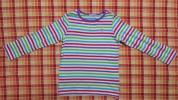 ミキハウス★バレリーナのワンポイント♪ボーダーTシャツ☆120cm★未使用品