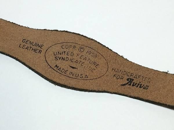 スヌーピー ヴィンテージ レザーブレスレット Paula USA デッドストック 未使用品 AVIVA製 1970's vintage SNOOPY [sl-184]_画像2