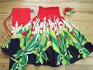 3点セット♪パウスカート(赤&黒 白いティアレ柄)72cm