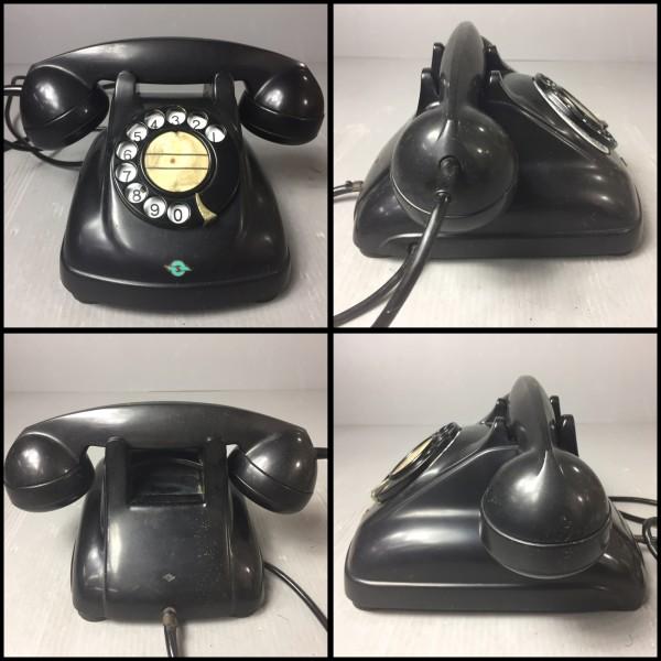 アンティーク NEC マツダ 黒電話 4号A 日本電信電話公社 71年 電電公社 レトロ_画像2
