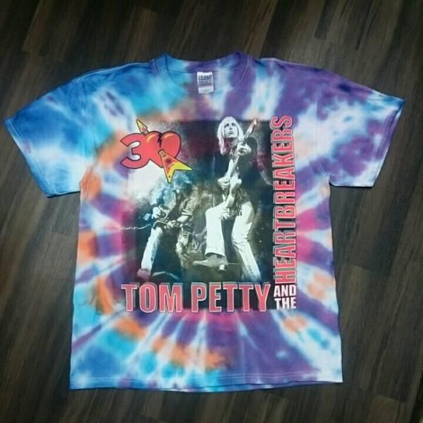 TOM PETTY & THE HEARTBREAKERS トムペティアンドザ・ハートブレイカーズ The highway companion TOUR 2006 GILDAN Tシャツ タイダイ