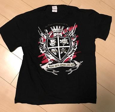 【PURE ROCK JAPAN】オフィシャルTシャツ(S):Versailles/Galneryus/SABER TIGER/LIGHT BRINGER*2011*2017