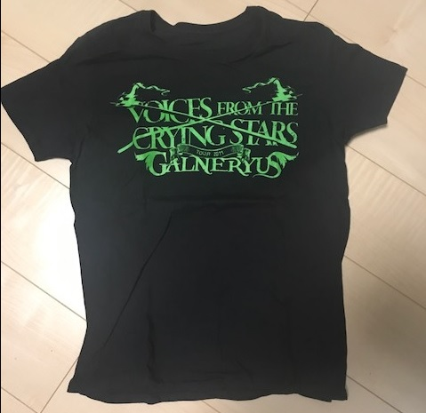 Galneryus/オフィシャルTシャツ(S):Voices from the Crying Star Tour★PURE ROCK JAPAN*ガルネリウス・小野正利*Syu