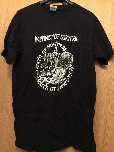 INSTINCT OF SURVIVAL Tシャツ S クラスト CRUST ハードコア パンク ブラック