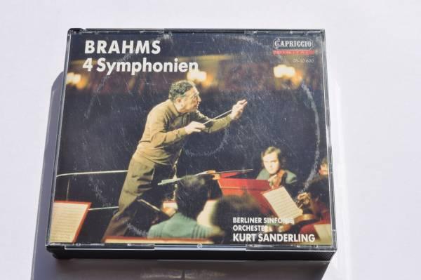 ブラームス:交響曲全集@クルト・ザンデルリング&ベルリン交響楽団/1990/4CD_画像1