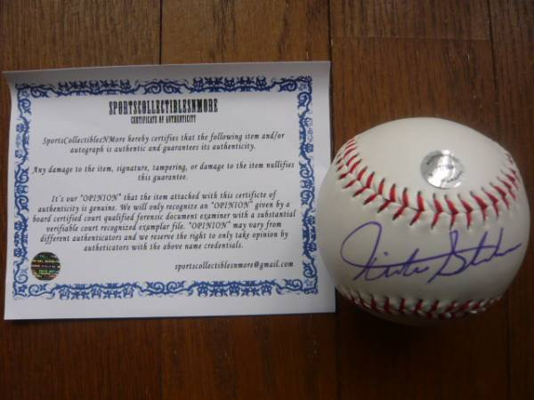 マイアミ・マーリンズ スタントン 直筆サイン入りボール 証明書付き グッズの画像