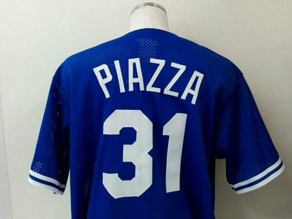 MLBユニフォーム マイク・ピアッツァ ピアザ #31 ドジャース サイズXL Majestic製 AUTHENTIC DiamondCollection グッズの画像