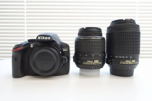 Nikon D3200 ダブルズームキット ☆美品☆売り切り