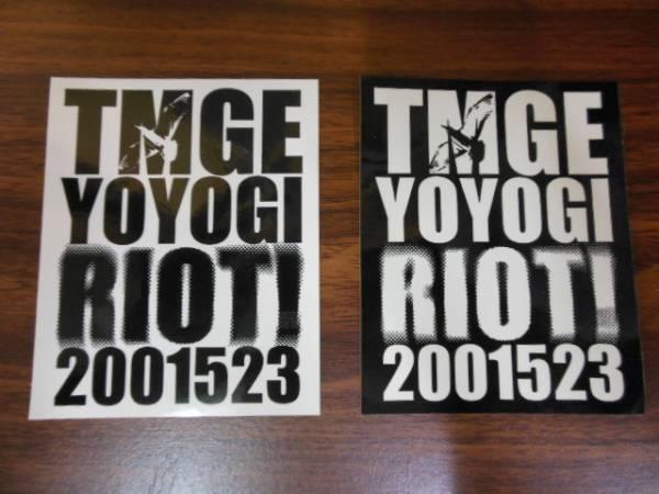 THEE MICHELLE GUN ELEPHANT yoyogi riot 2001523 ステッカー 2枚セット BLANKEY JET CITY ROSSO SHERBETS