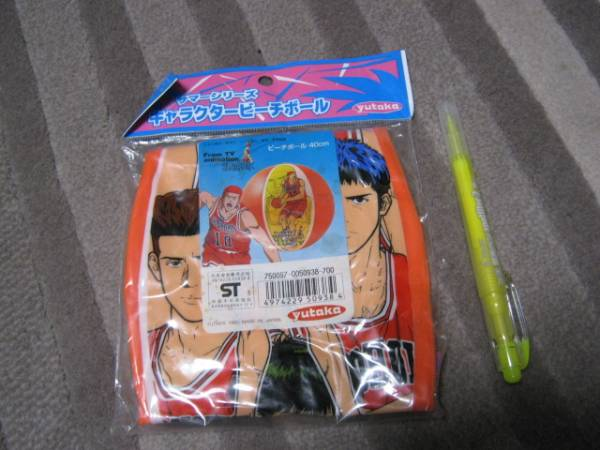 新品 スラムダンク ビーチボール 40センチ キャラクター yutaka SLAMDUNK 日本製 レア 海 プール 遊具 グッズの画像