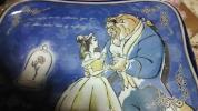 ディズニー☆美女と野獣☆ポーチ☆青☆新品