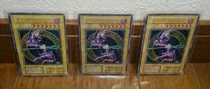 遊戯王カード 日版【ブラック・マジシャン 3枚】ウルトラレア 初期 型番なし