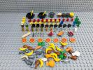 ☆調理器具・食べ物☆ レゴ ミニフィグ用小物 大量120個以上 肉 魚 果物 ピザ バナナ 皿 コップ 鍋 包丁など LEGO シティ フレンズ