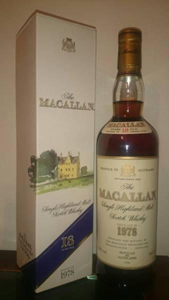 マッカラン 18年 1978年 - 1996年 700ml 箱付き 未開封 税無 The Macallan 18 Year Old S