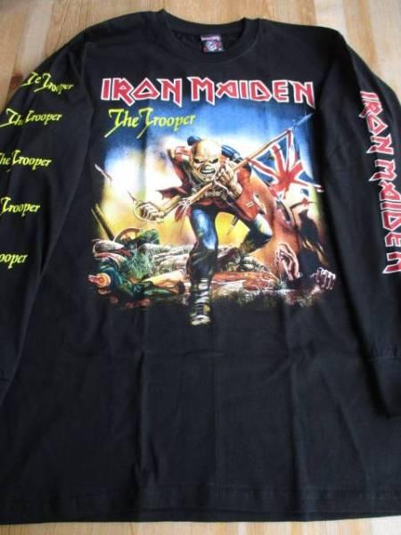IRON MAIDEN 長袖Tシャツ the trooper 黒M ロンT / motorhead metallica judas priest def leppard