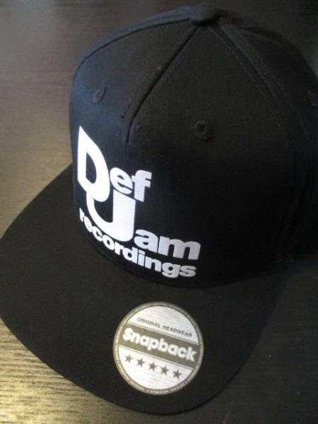 Def Jam recordings 黒 コットン スナップバック キャップ snapback cap / public enemy beastie boys slayer s.o.d.