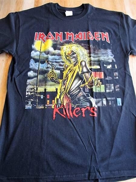 IRON MAIDEN Tシャツ killers 黒M アイアン・メイデン バックプリントあり / metallica motorhead