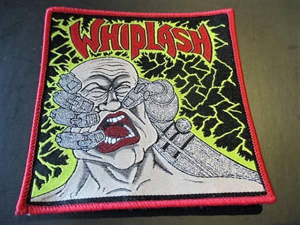 WHIPLASH 刺繍パッチ ワッペン power and pain