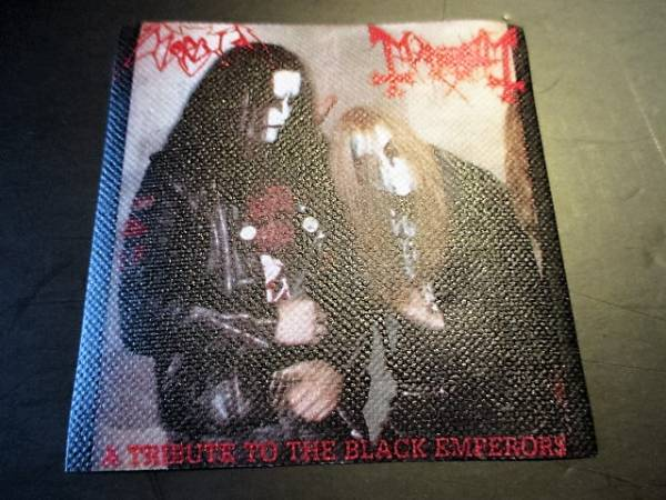 Mayhem Morbid プリントパッチ ワッペン a tribute to the black emperrors / darkthrone satanic warmaster marduk ブラックメタル