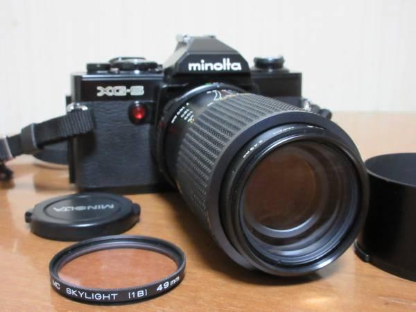 minolta ミノルタ XG-S 一眼フィルムカメラ★MINOLTA MD ZOOM 75-150mm 1:4 φ49mm★シャッター切れます