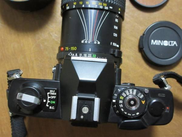 minolta ミノルタ XG-S 一眼フィルムカメラ★MINOLTA MD ZOOM 75-150mm 1:4 φ49mm★シャッター切れます_画像2