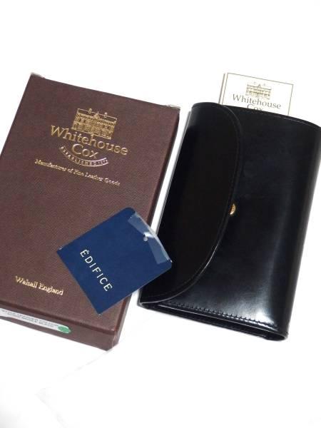 新品 2017年品番 最新 国内正規品 ホワイトハウスコックス オールブラック 三つ折り 財布 S7660 ブライドルレザー